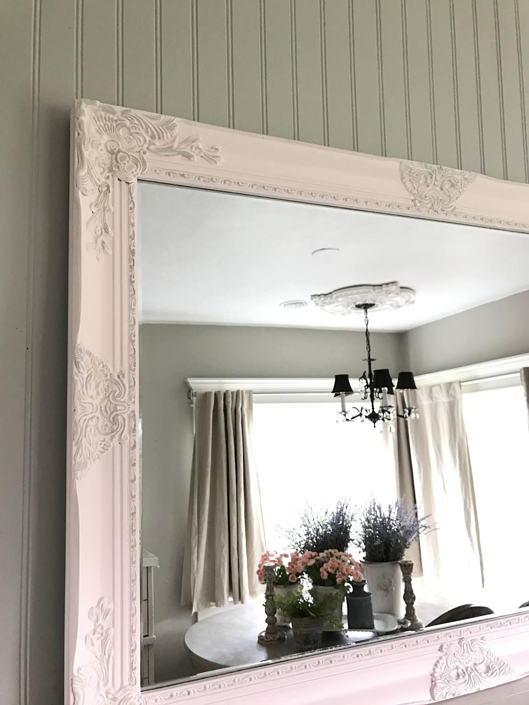 Farmhouse Bathroom Mirrors  Pink Farmhouse Mirror Bathroom Vanity Mirror Ornate Mirror