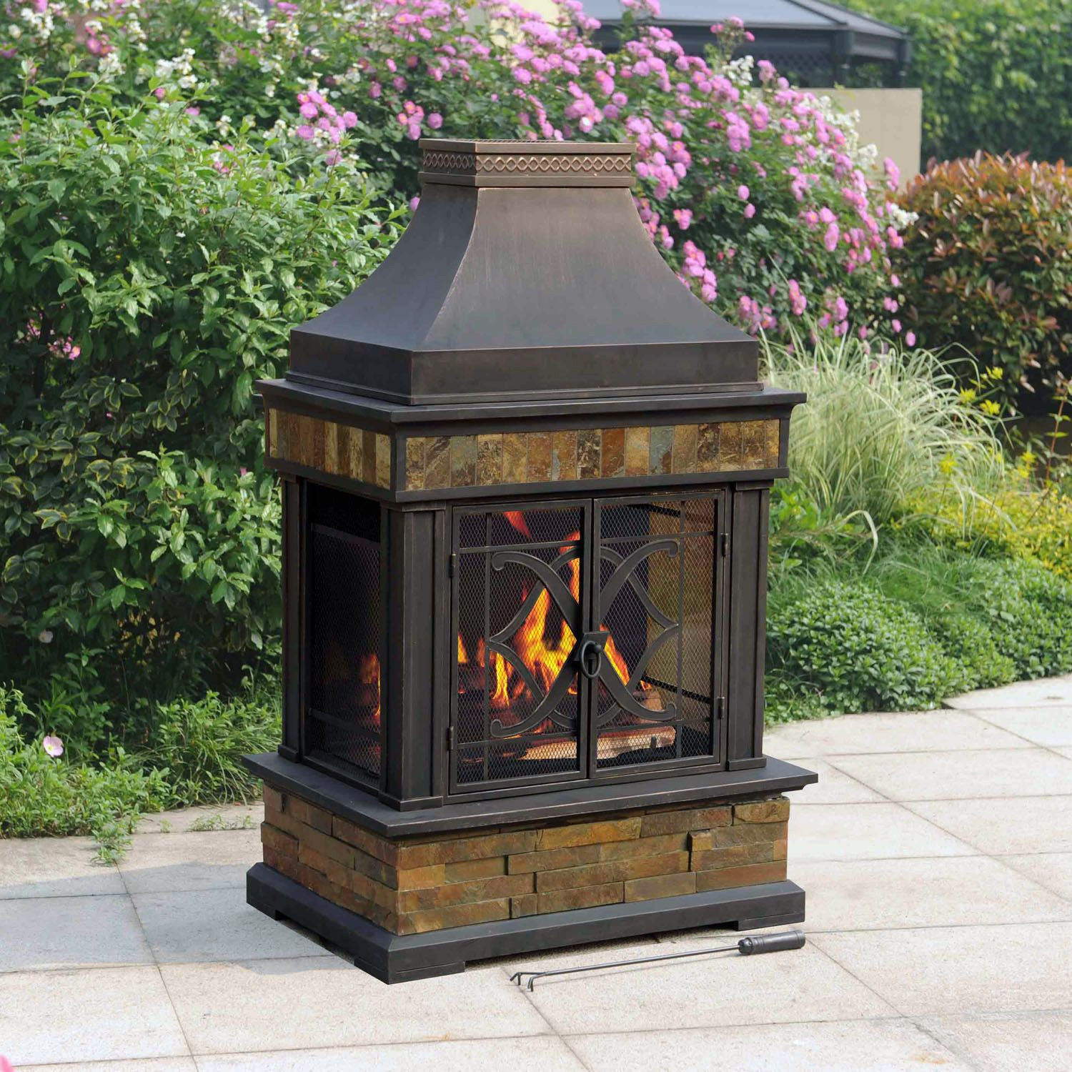Fireplace Fire Pit  Chimney Outdoor Fire Pit