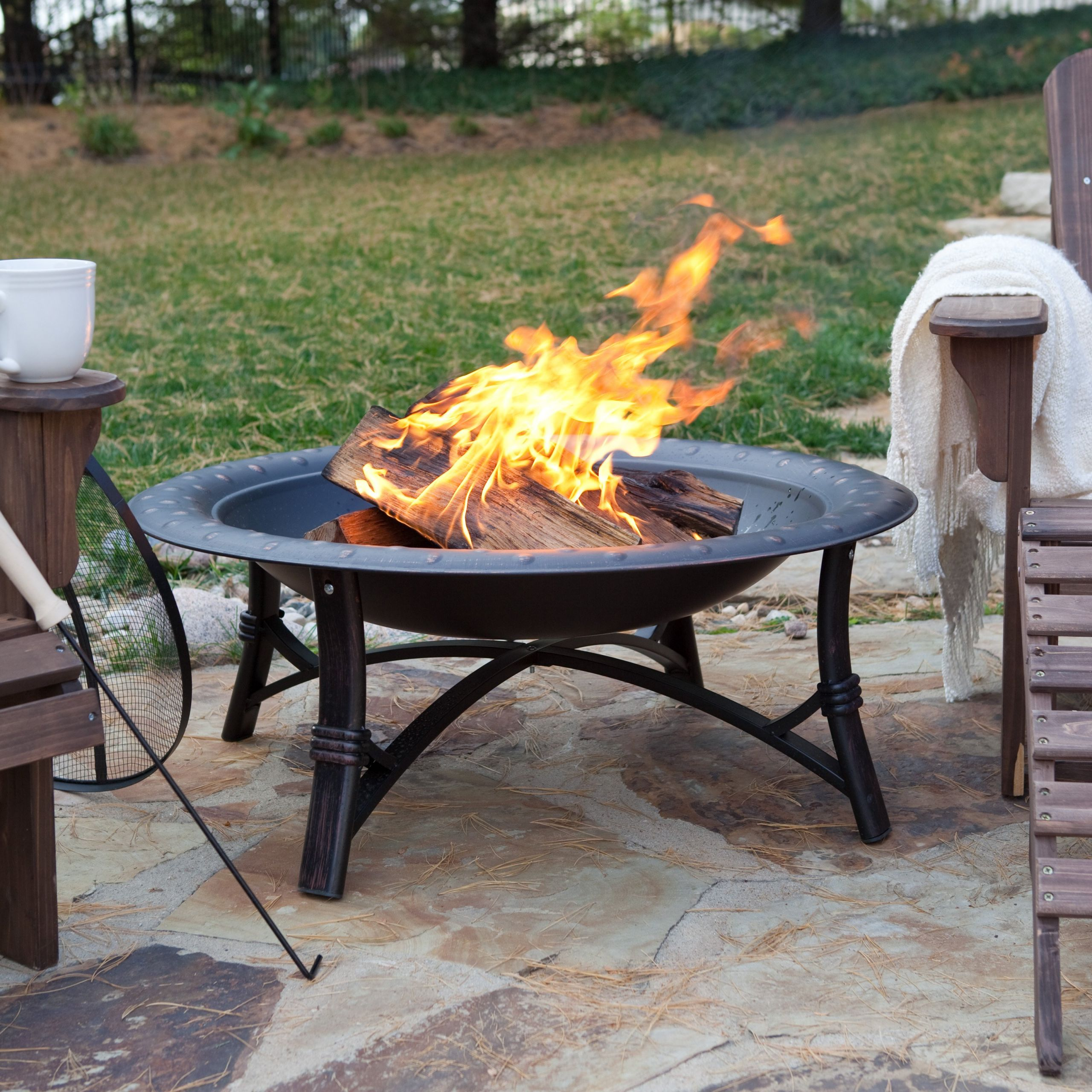 Fireplace Fire Pit  Fire Sense 35 in Roman Fire Pit Fire Pits at Hayneedle