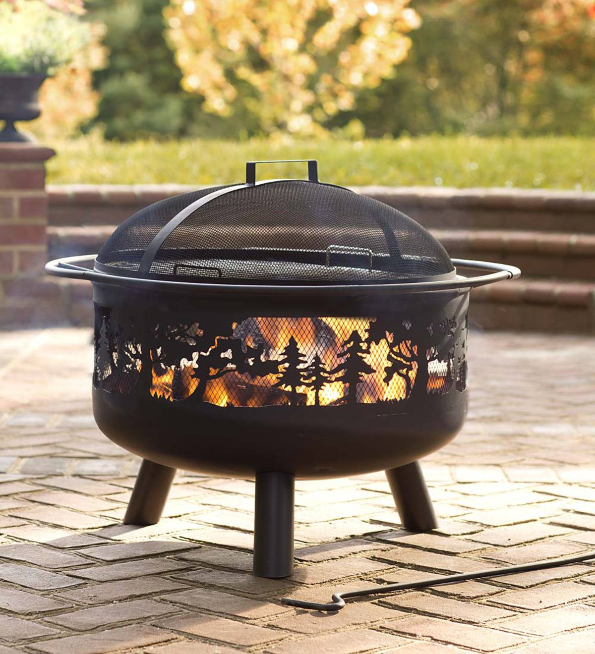 Fireplace Fire Pit  Timberline Wood Burning Fire Pit Fire Pits