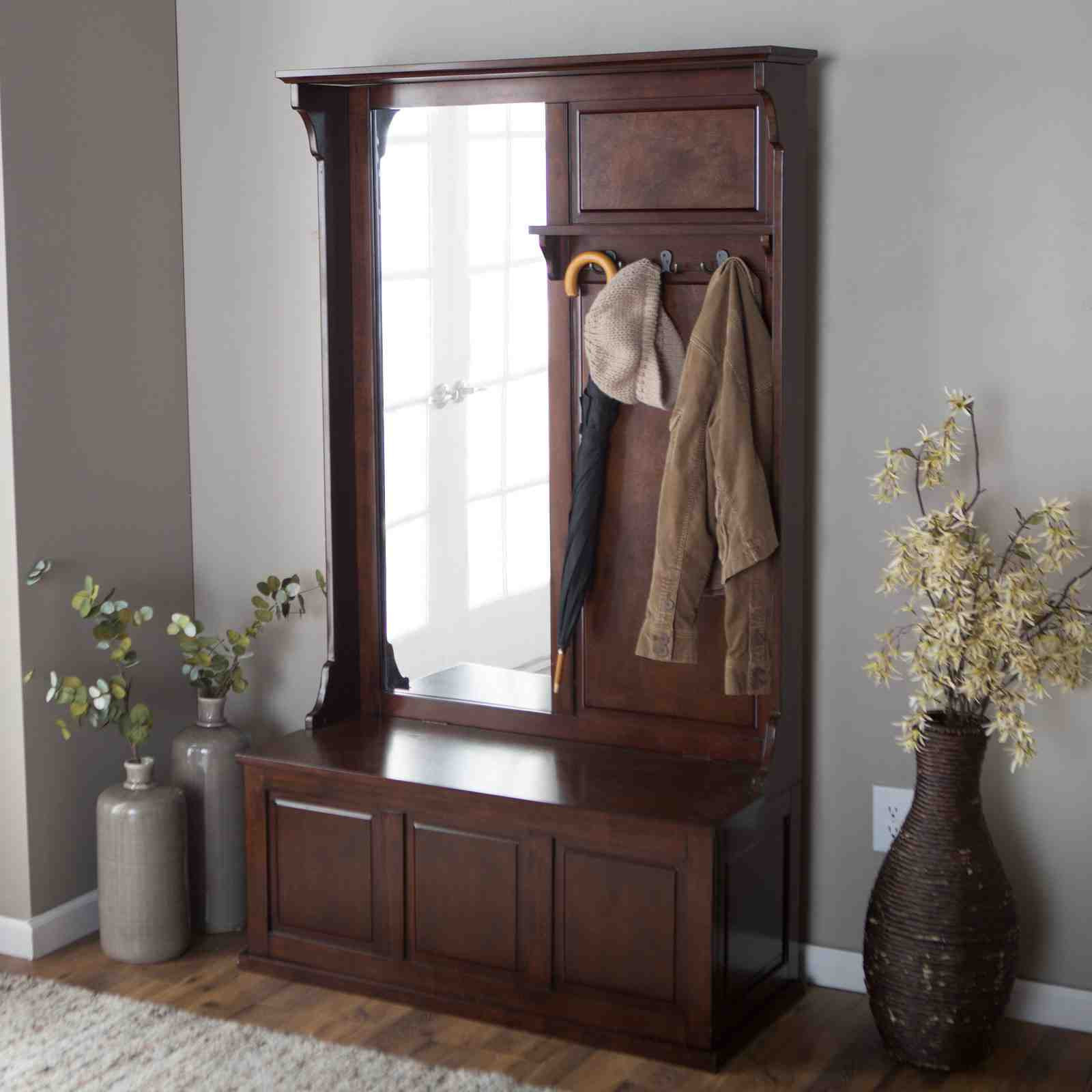 Hall Tree With Storage Bench  Hall Tree Storage Bench How to Purchase Home Furniture