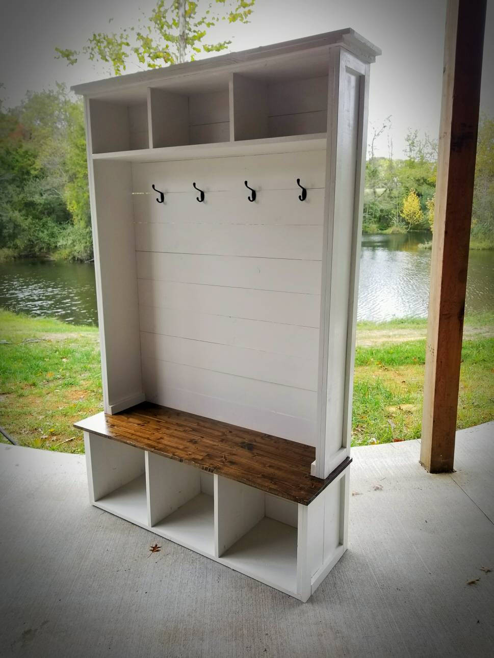 Hall Tree With Storage Bench  Hall Tree with Bench and storage Low Shipping Farmhouse