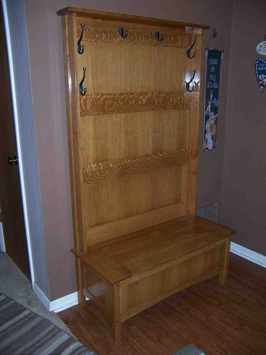 Hall Tree With Storage Bench  Hall Tree with Storage Bench Home Furniture Design