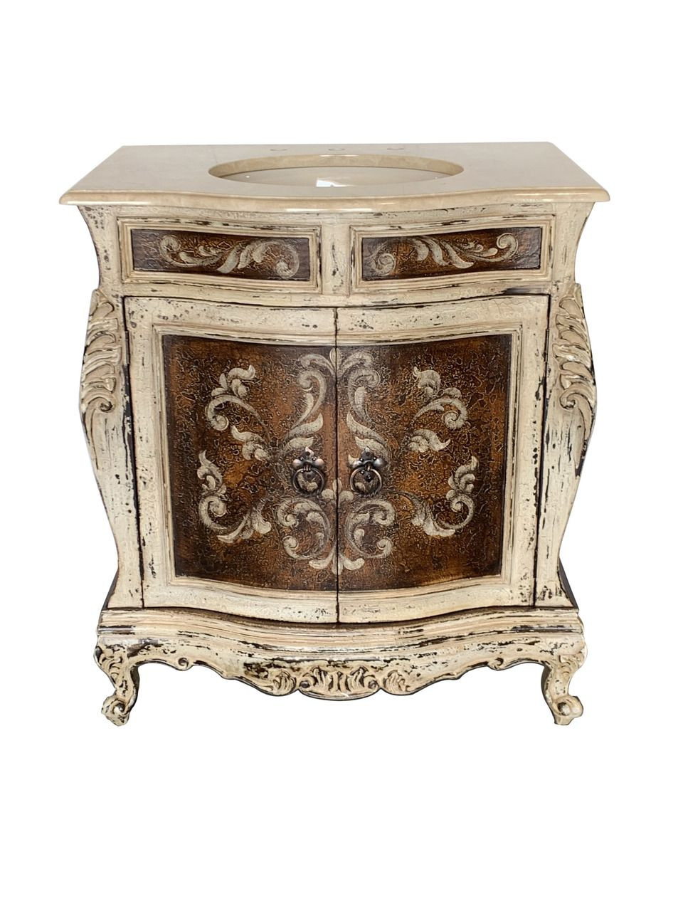 Hand Painted Bathroom Vanity  Adelina Antique Hand Painted 31