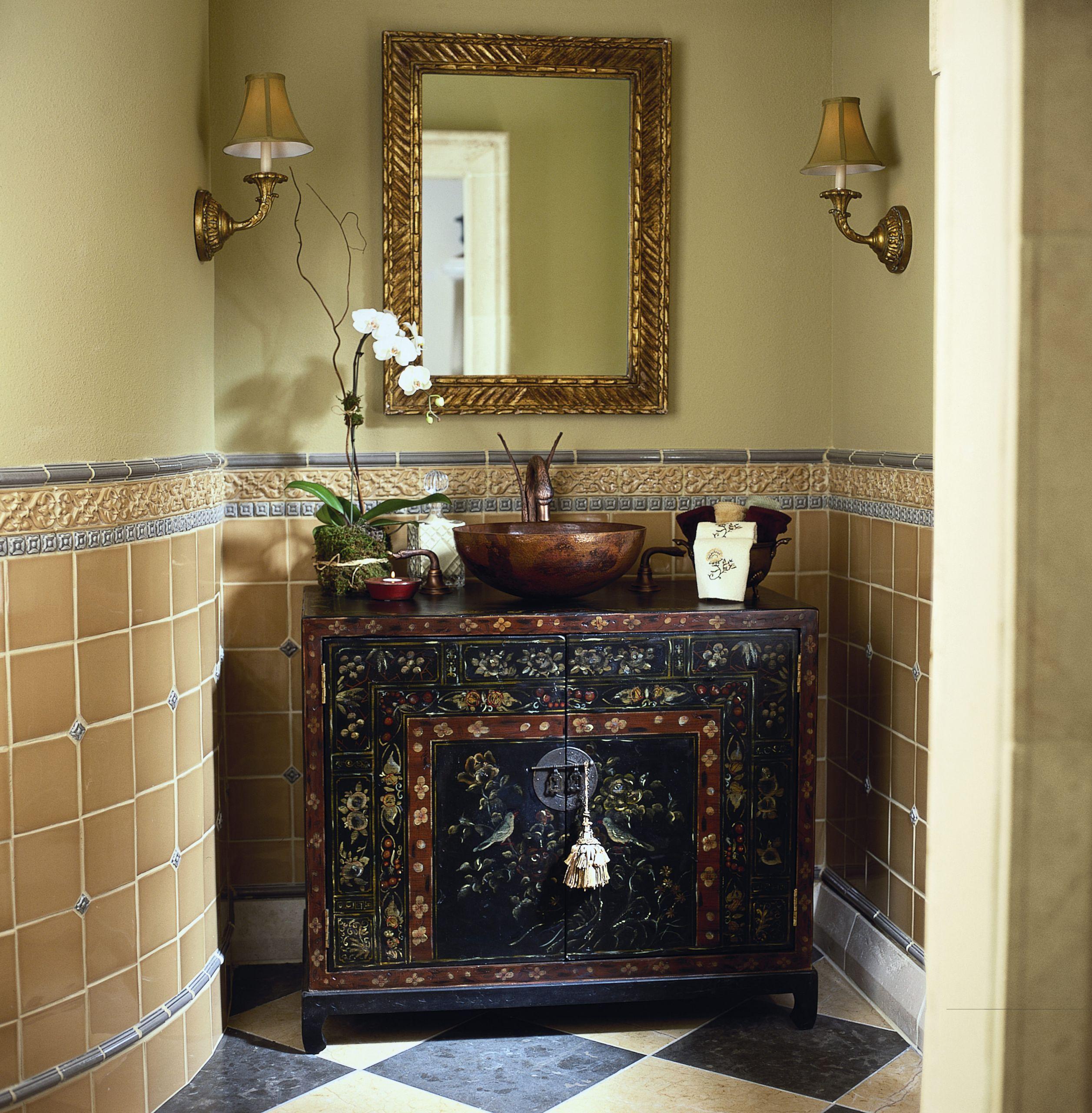 Hand Painted Bathroom Vanity  Blissfully Beautiful Hand Painted Bathroom Vanities Abode