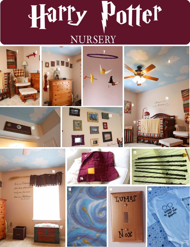 Harry Potter Baby Room Decor  DIY Harry Potter Nursery for children s first bedroom