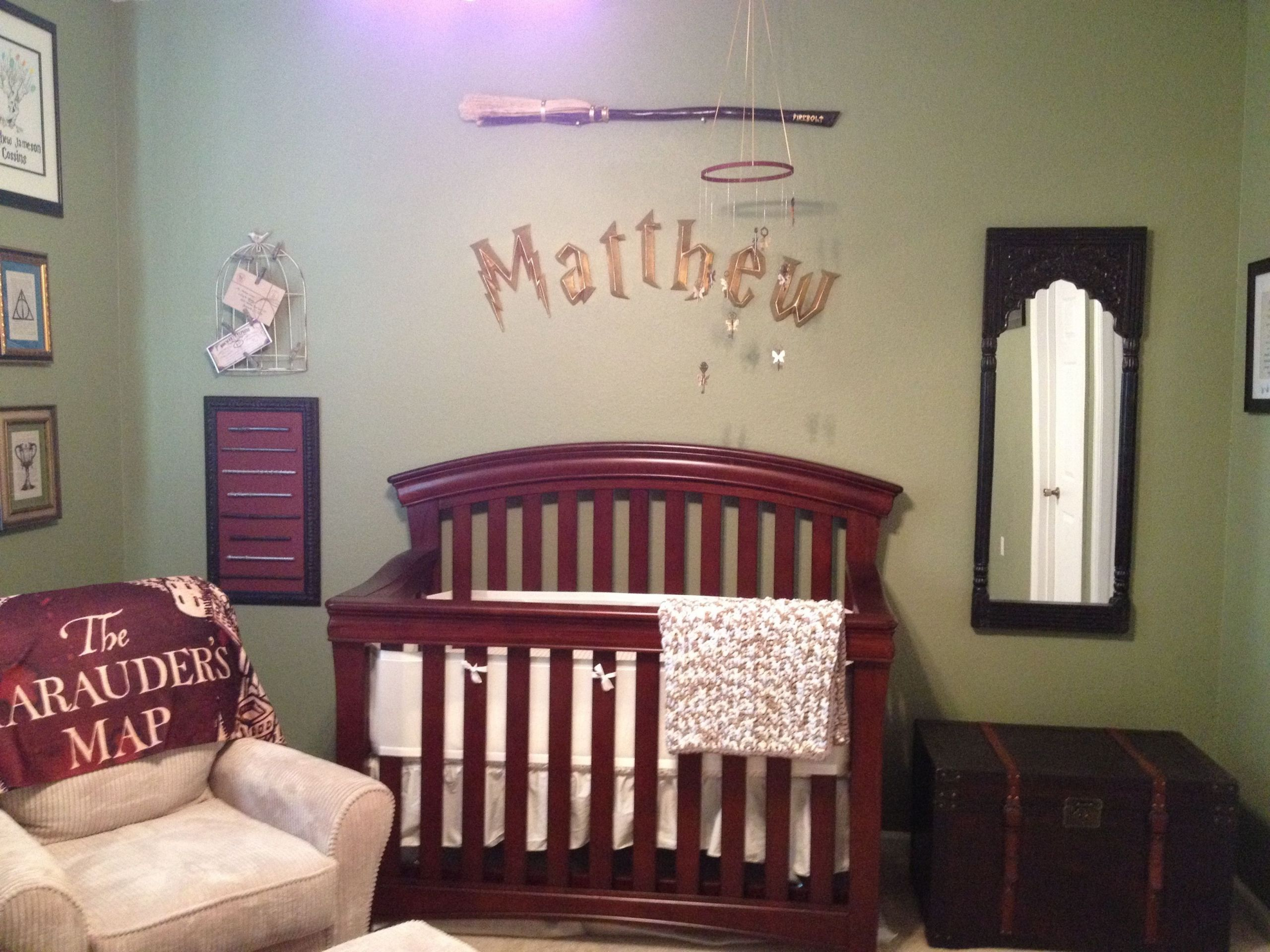 Harry Potter Baby Room Decor  Custom Harry Potter Nursery that I made for my son Matthew