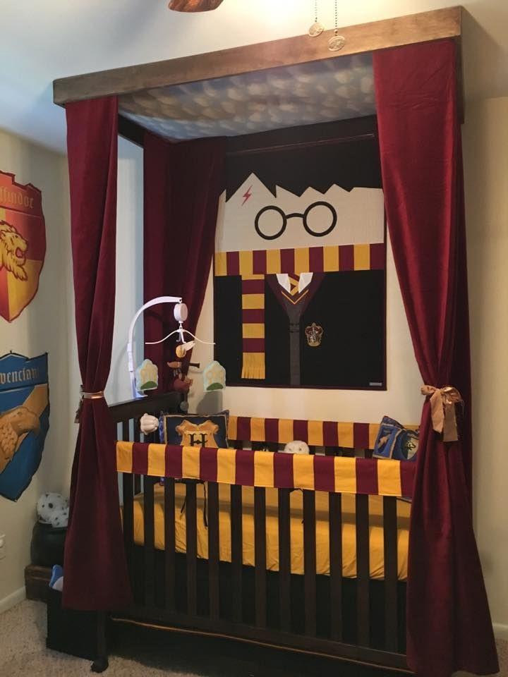 Harry Potter Baby Room Decor  Harry Potter Nursery Crib Looks like Harry s four poster