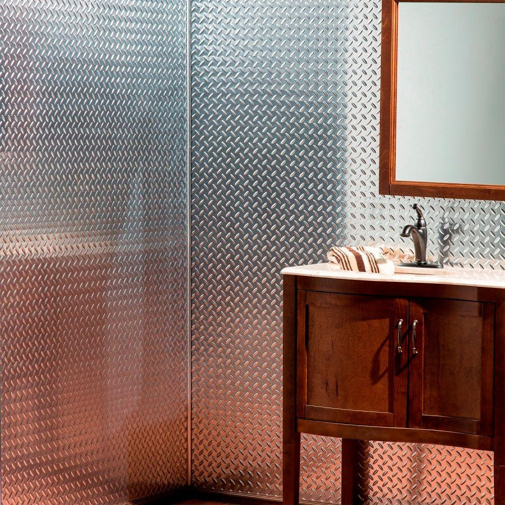Home Depot Bathroom Wall Panels Luxury Fasade Diamond Plate 96 In W X 48 In H X 0 013 In D