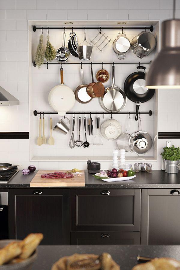 Ikea Kitchen Hanging Storage  1000 images about Kitchens on Pinterest