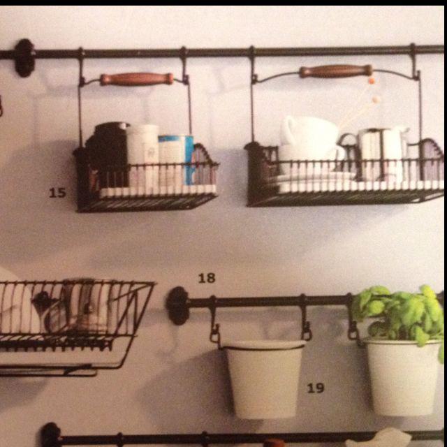 Ikea Kitchen Hanging Storage  Ikea kitchen wall organizer