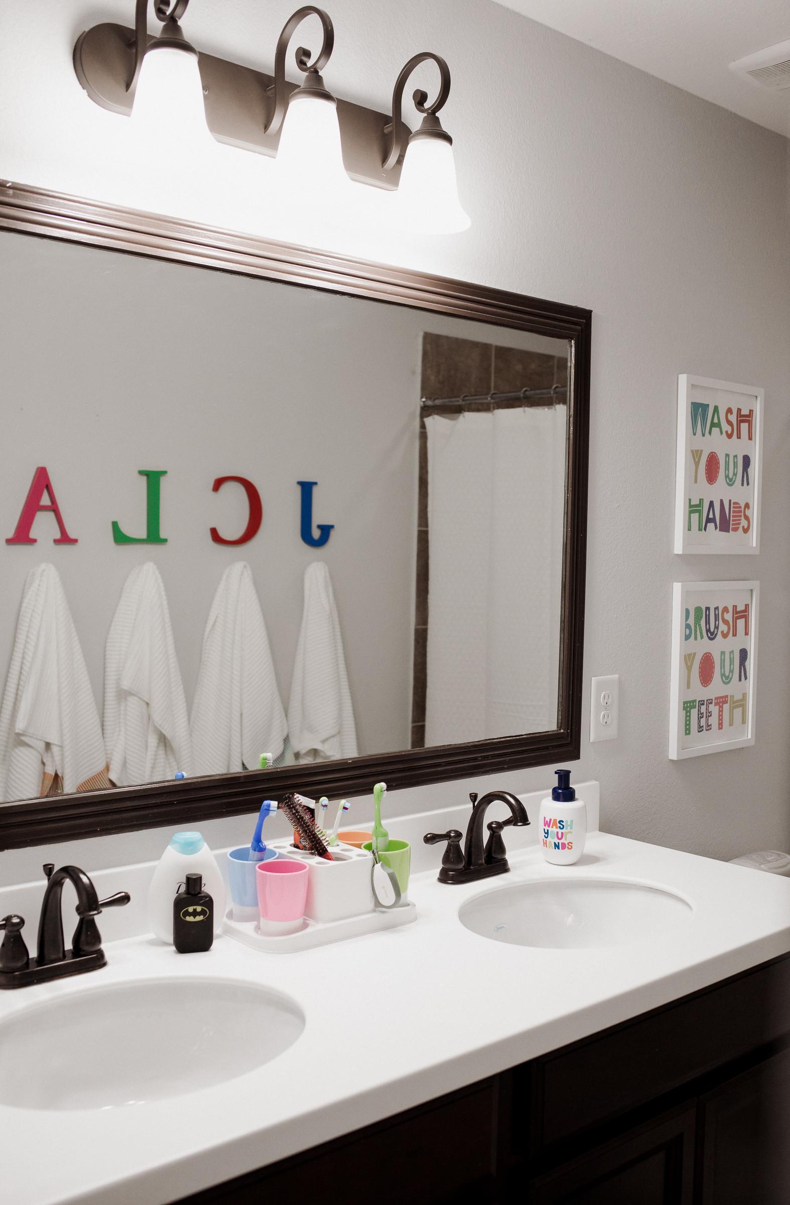 Kids Bathroom Sets  Our Kids d Bathroom Decor Makeover Uptown with Elly