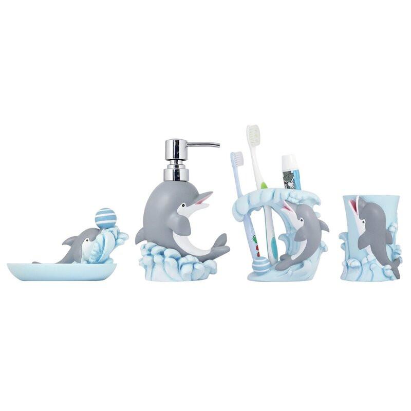 Kids Bathroom Sets  Modona 4 Piece Kids Bathroom Accessories Set & Reviews