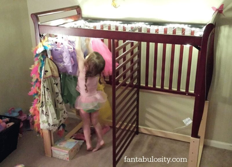 Kids Dressing Room  Turning a Crib in to a Dressing Room Let s Play Dress Up