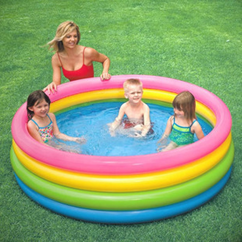 Kids Outdoor Swimming Pool  Fluorescent Children Inflatable Swimming Water Pool 168