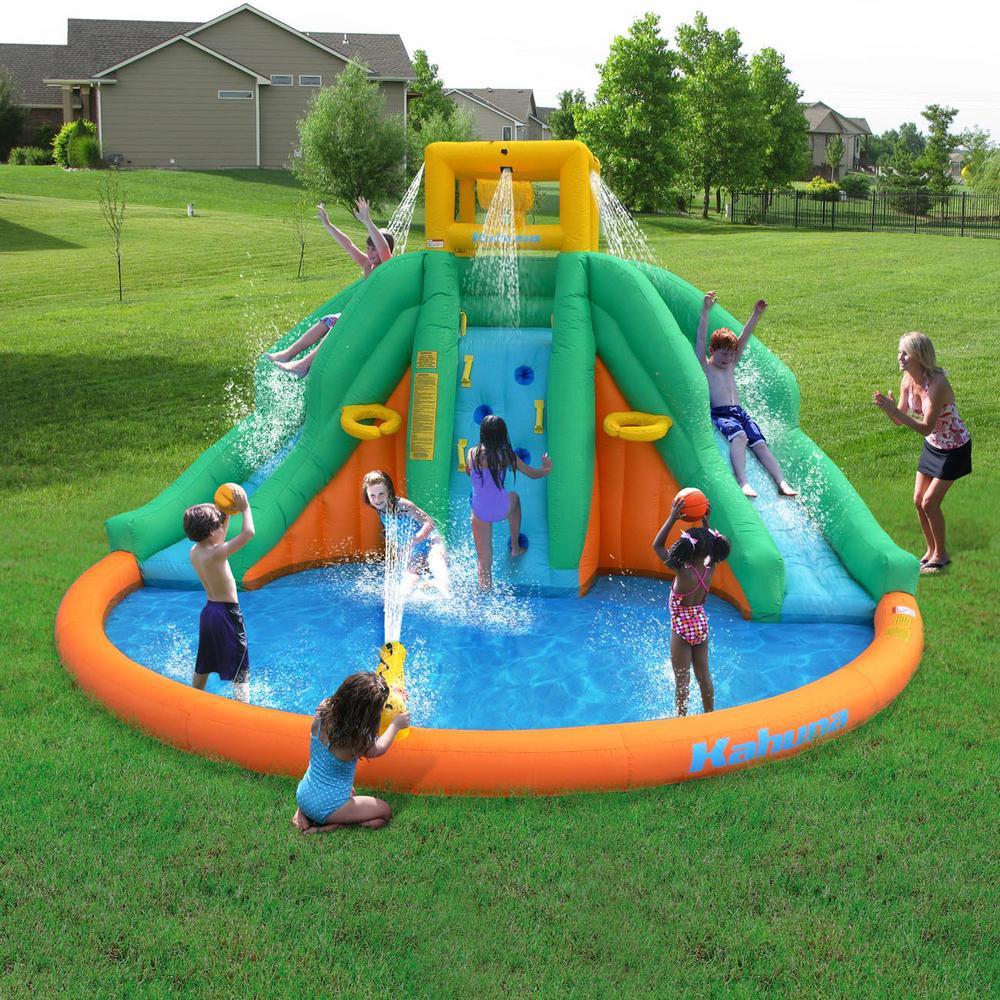 Kids Outdoor Swimming Pool  Kids Inflatable Splash Pool Backyard Water Slide Park