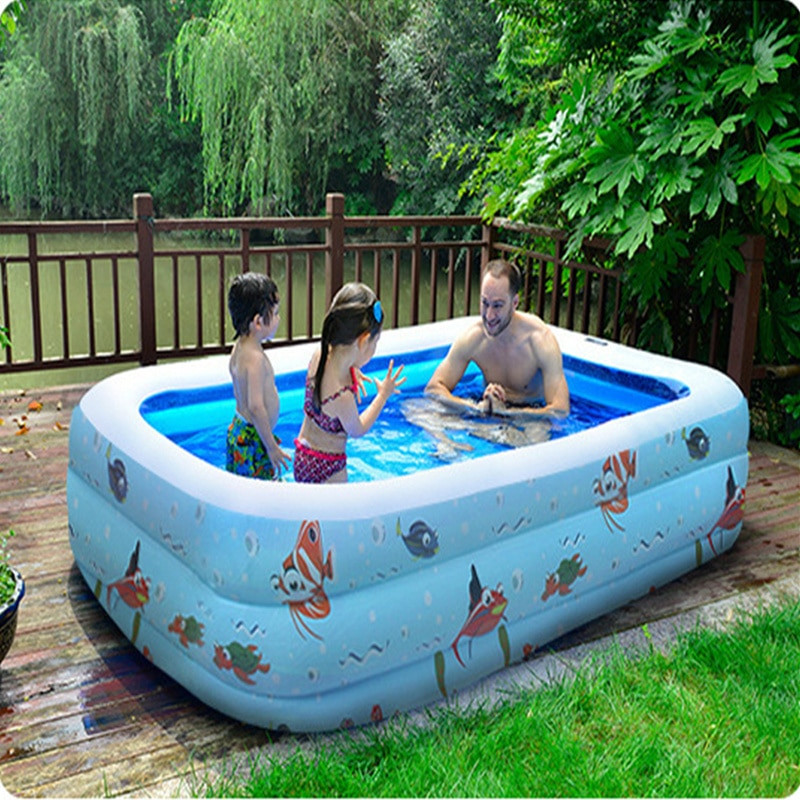 Kids Outdoor Swimming Pool  3 Big Size Inflatable Swimming Water Pool Children Home