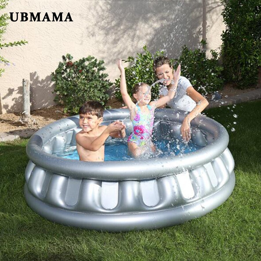 Kids Outdoor Swimming Pool  Flying Saucer Inflatable Round Pool Pure Color Children