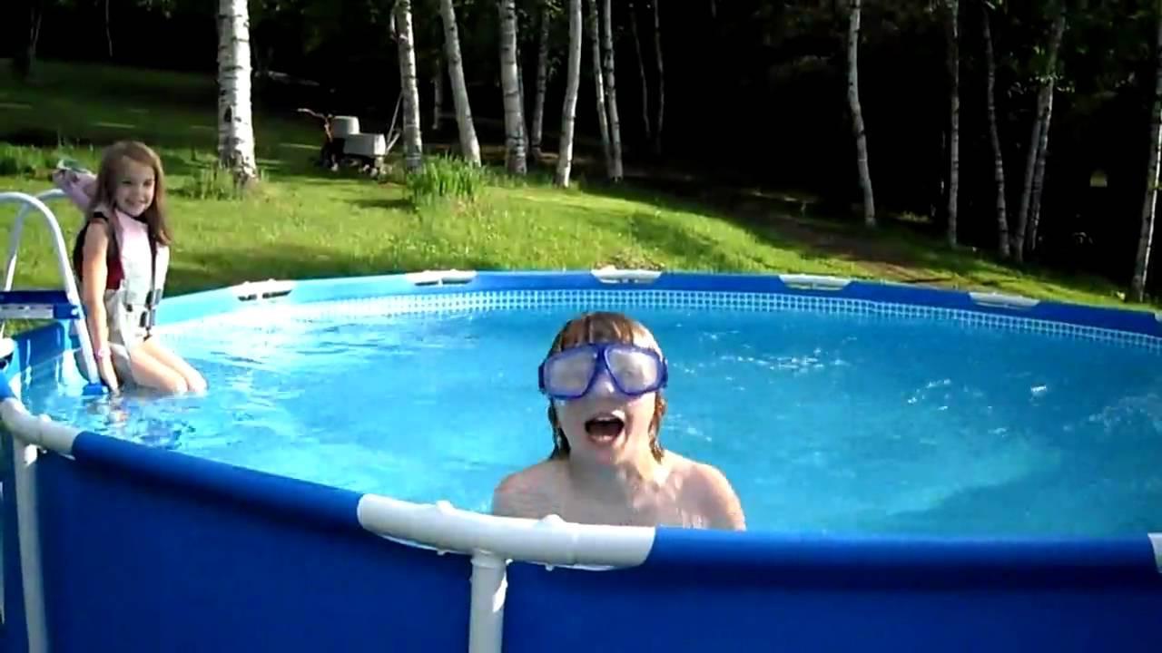 Kids Outdoor Swimming Pool  Kids Swimming in New Pool