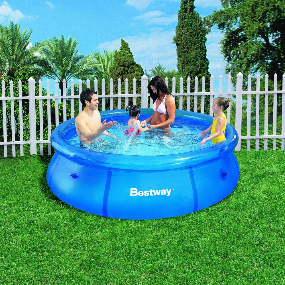 Kids Outdoor Swimming Pool  8FT Fast Set Inflatable Swimming Pool Garden Outdoor
