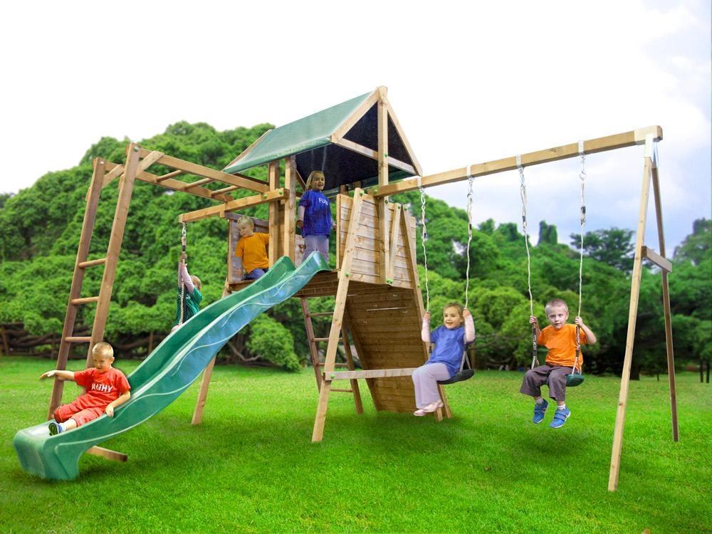Kids Slide and Swing Awesome Kids Small Climbing Frame Kid Swing Slide Set Playhouse