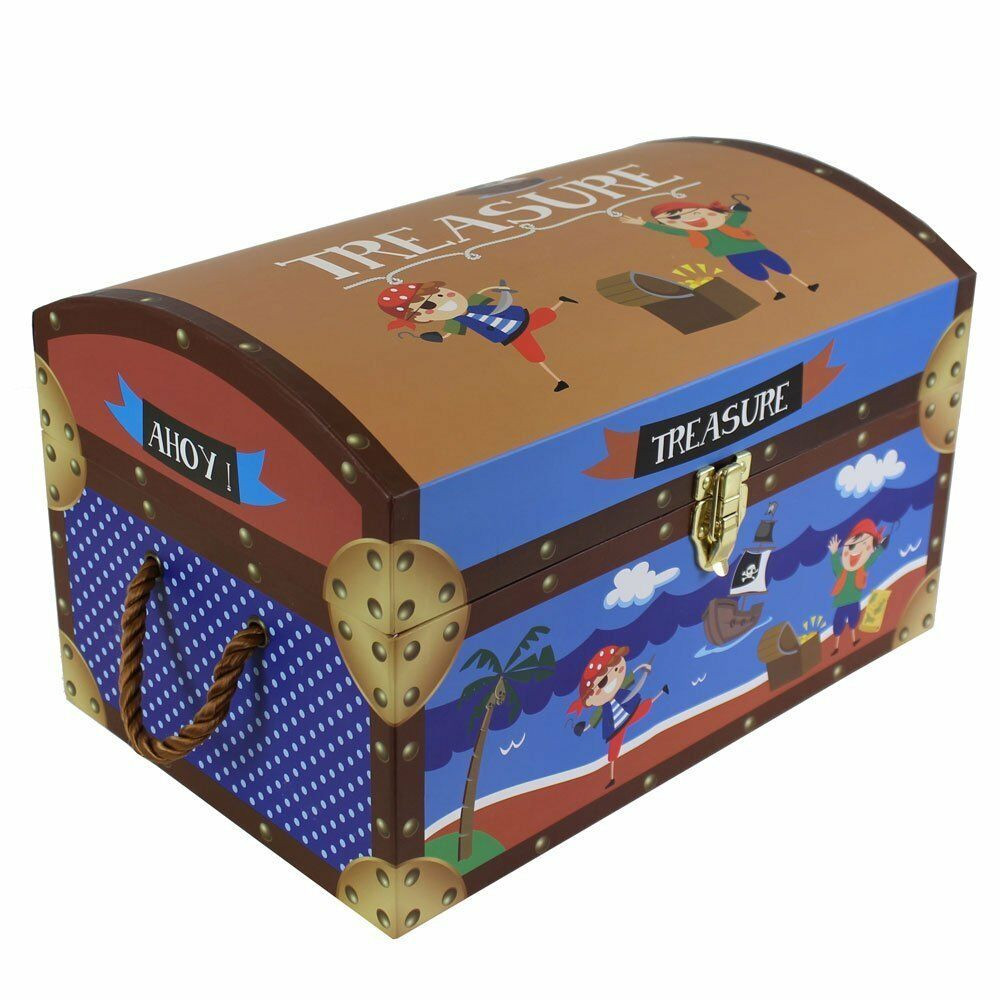 Kids Storage Trunk Elegant Kids Children's Pirate Treasure Chests Cardboard toy
