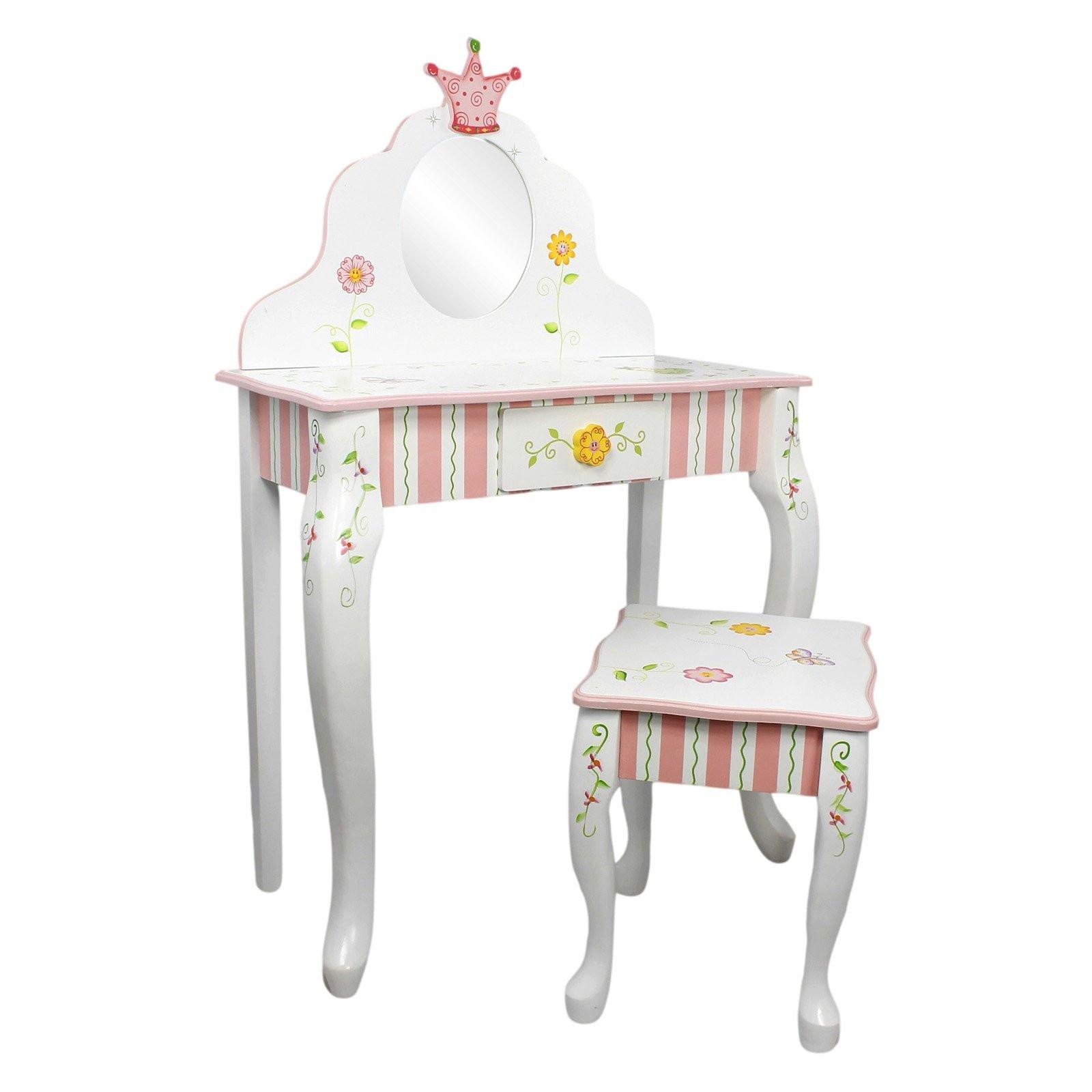 Kids Vanity Table  Fantasy Fields Princess & Frog Vanity Table and Stool