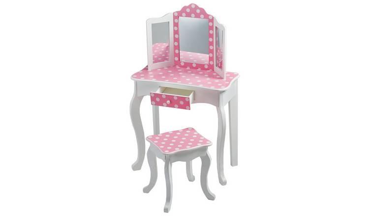 Kids Vanity Table  Buy Teamson Kids Gisele Polka Dot Vanity Table & Stool