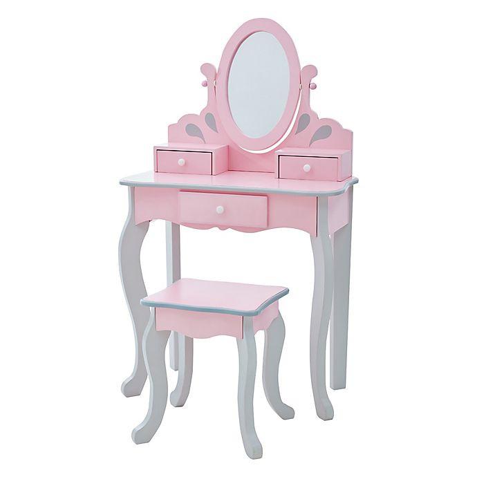 Kids Vanity Table  Teamson Kids Little Princess Rapunzel Toy Vanity Set in