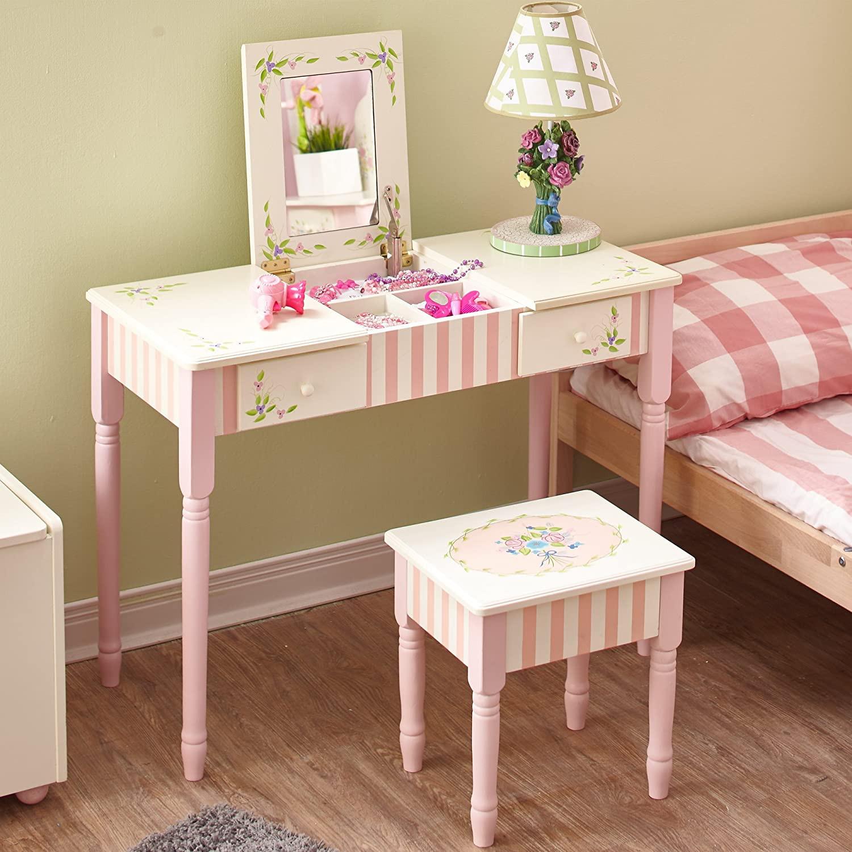 Kids Vanity Table  Child Vanity Table Set & Excellent Girls Vanity Table Set