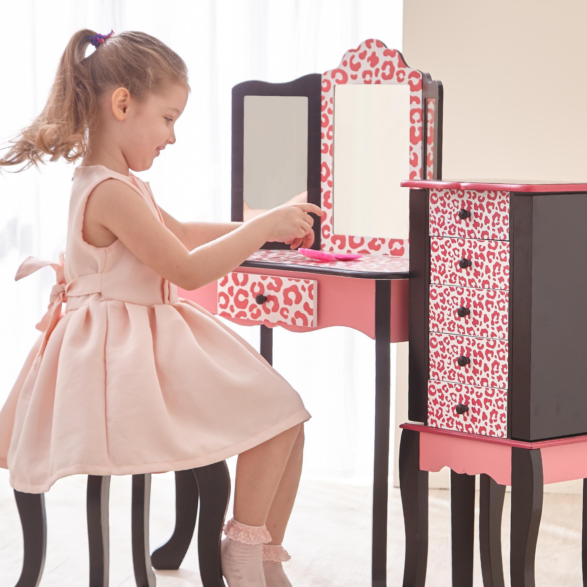 Kids Vanity Table  Amazon Teamson Kids Fashion Prints Girls Vanity
