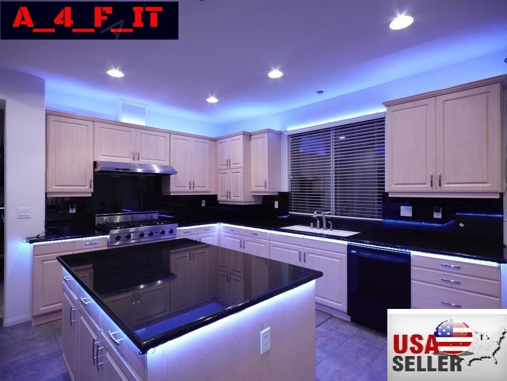 Kitchen Led Lights Under Cabinet  4Pcs LED Kitchen Under Cabinet Light Strip RGB SMD 5050