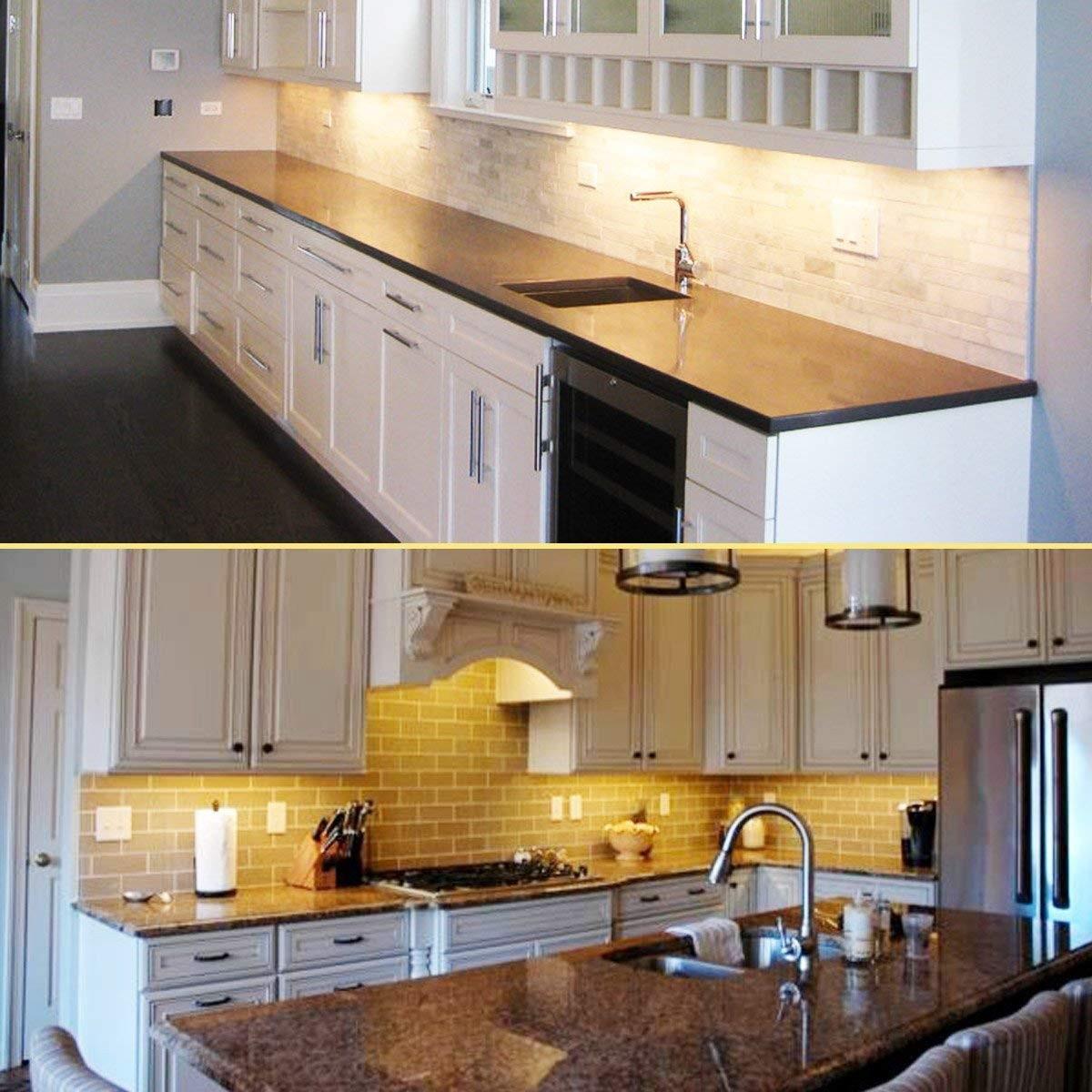 Kitchen Led Lights Under Cabinet  Ultra Thin LED Under Cabinet Counter Kitchen Lighting Kit