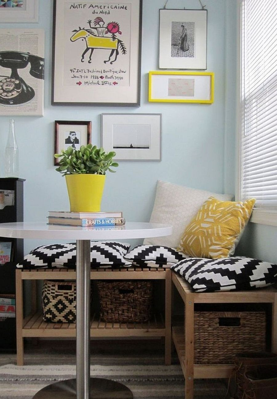 Kitchen Nooks With Storage  20 Tiny Breakfast Nooks for Two with Space Saving Goodness