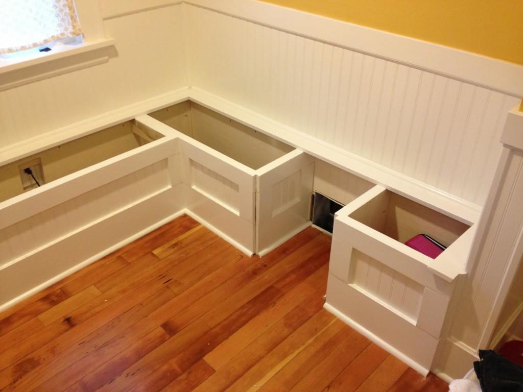 Kitchen Nooks With Storage  DIY Custom Kitchen Nook Storage Benches