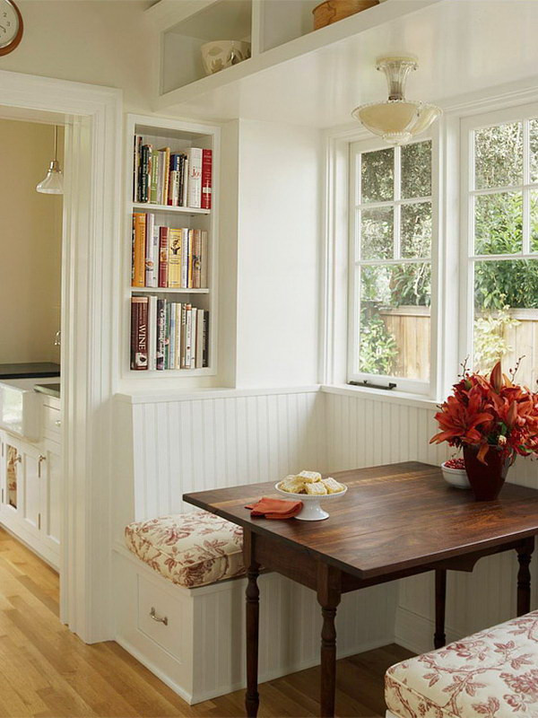 Kitchen Nooks With Storage  Beautiful and Cozy Breakfast Nooks Hative