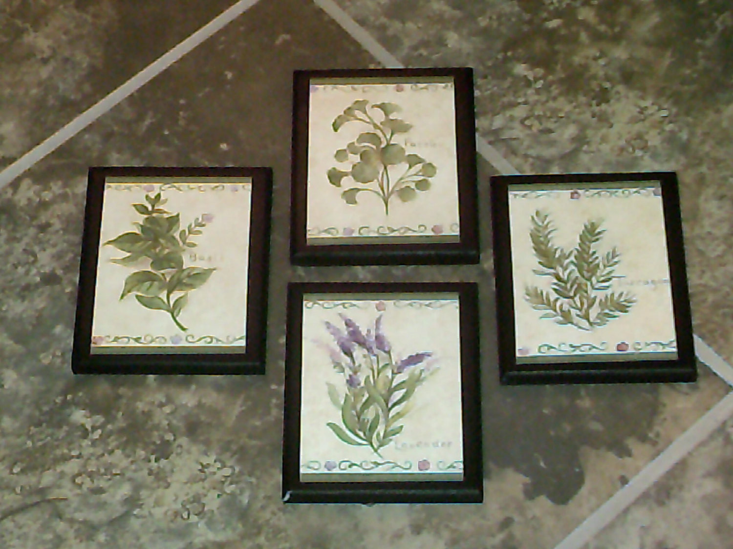 Kitchen Wall Signs  Herbs 4 Kitchen Wall Decor Plaques country by
