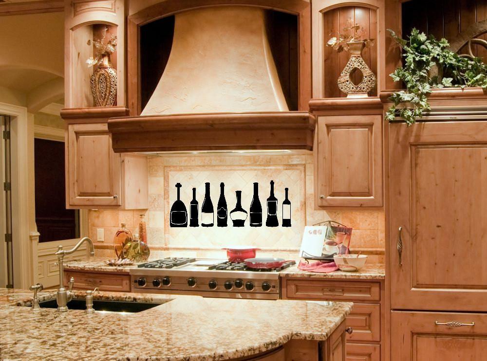 Kitchen Wall Signs  Kitchen Decor Kitchen Wall Decal Wine Bottle Wine Decor