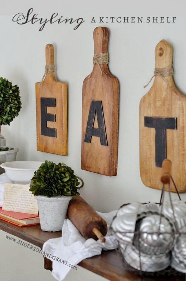 Kitchen Wall Signs  20 Gorgeous Kitchen Wall Decor Ideas to Stir Up Your Blank