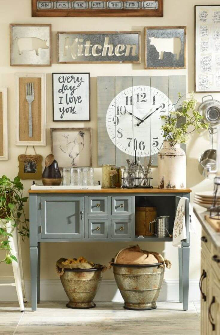 Kitchen Wall Signs  27 Best Country Cottage Style Kitchen Decor Ideas and