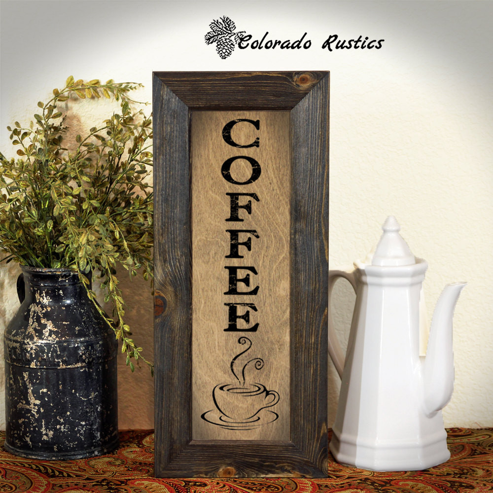 Kitchen Wall Signs  Coffee Sign Rustic Kitchen Sign Kitchen Wall Decor Coffee
