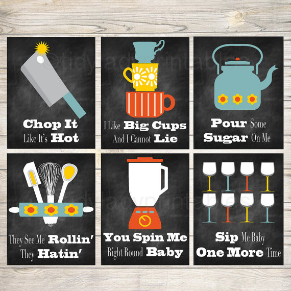 Kitchen Wall Signs  Funny Kitchen Wall Art Kitchen Decor PRINTABLE signs INSTANT