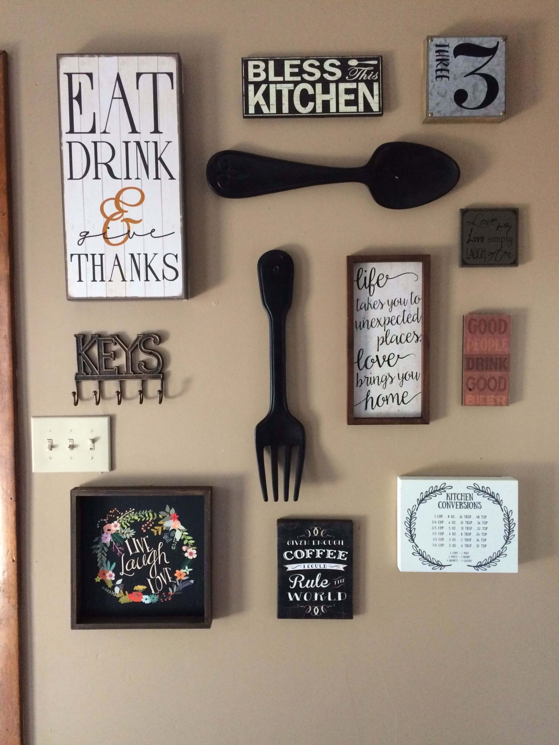 Kitchen Wall Signs  Innovative Kitchen Wall Decor Ideas