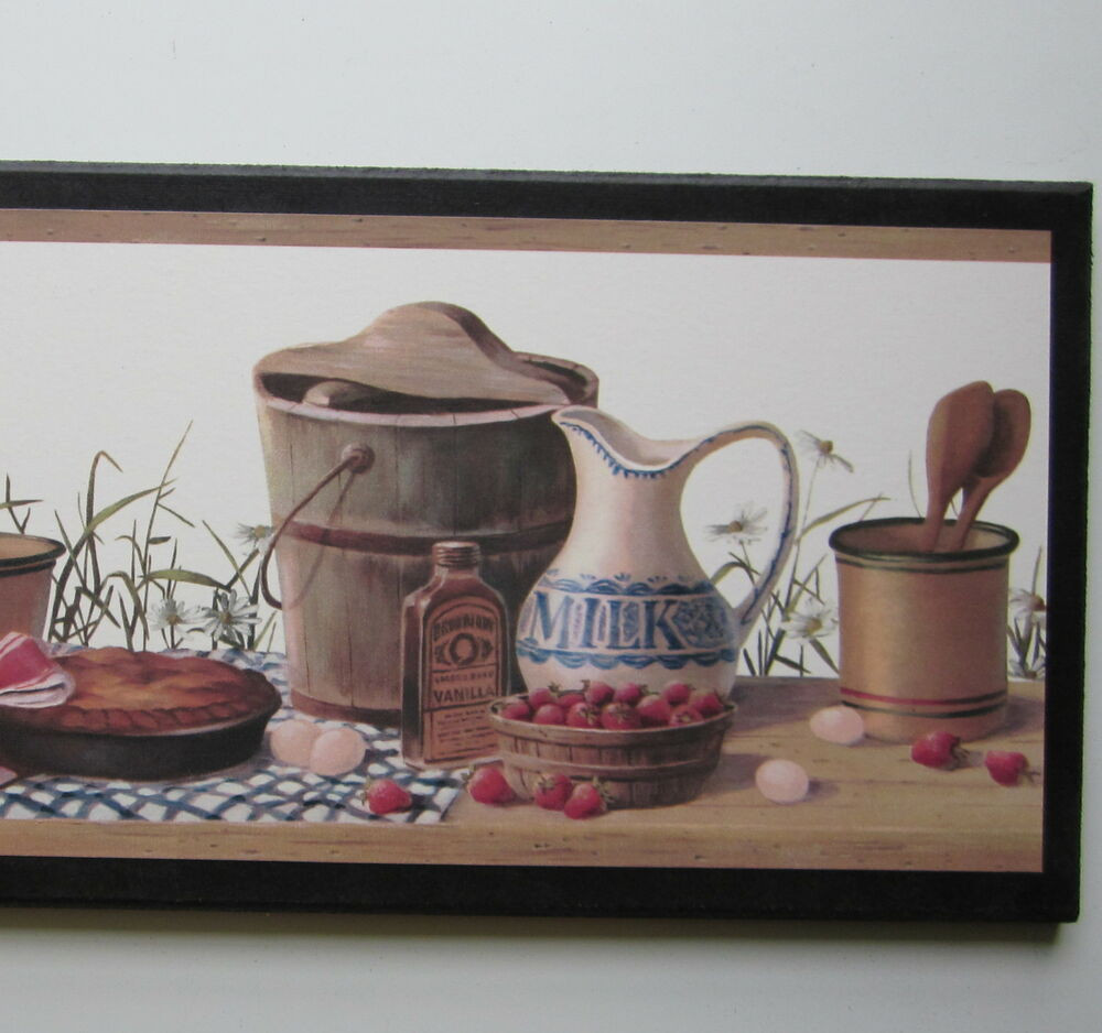Kitchen Wall Signs  Country Kitchen Canisters sign wall decor plaque vintage