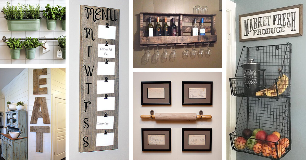 Kitchen Wall Signs  36 Best Kitchen Wall Decor Ideas and Designs for 2020