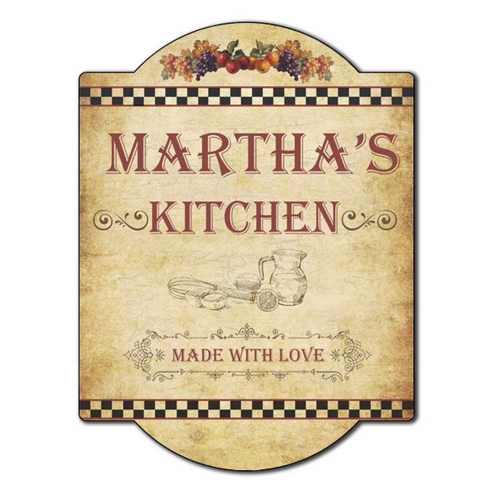 Kitchen Wall Signs  Personalized Kitchen Wall Sign
