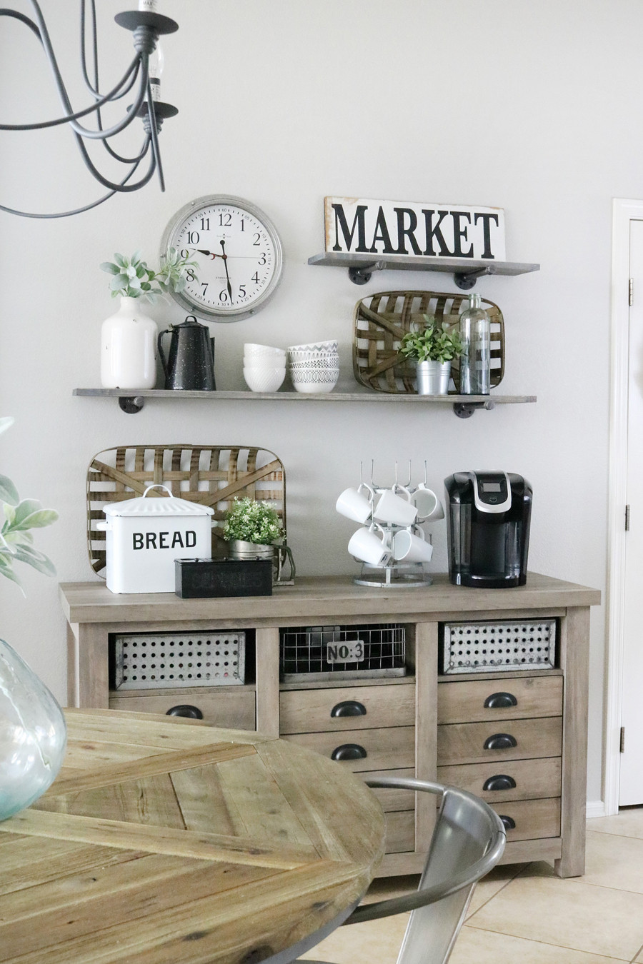 Kitchen Wall Signs  Modern Farmhouse Inspired Coffee Bar Station The Crafted
