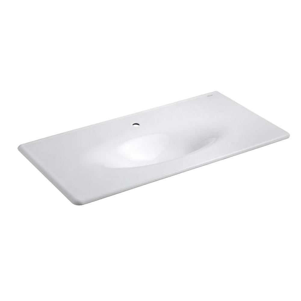 Kohler Bathroom Vanity  KOHLER 22 25 in Iron Impressions Vanity Top Bathroom Sink