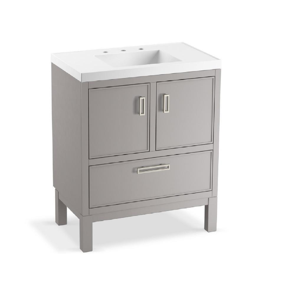 Kohler Bathroom Vanity  KOHLER Rubicon 30 in W Bath Vanity in Mohair Grey with