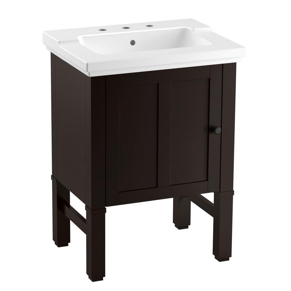Kohler Bathroom Vanity  KOHLER Chambly 24 in W Vanity in Black Forest with
